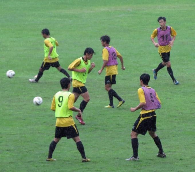 中華隊練習小組傳球配合