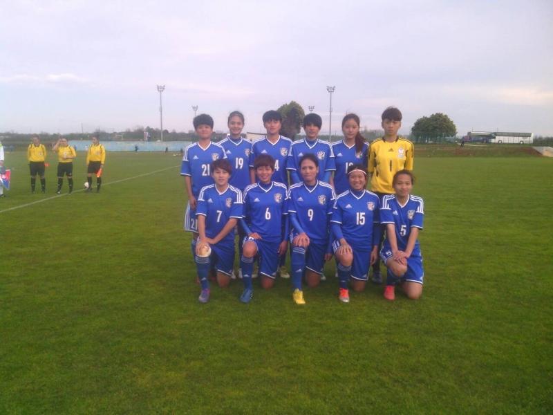 中華女足擊敗斯洛伐克