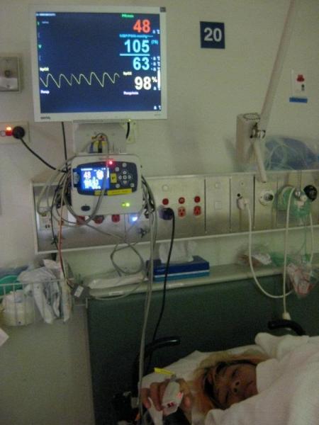 2011年11月阿娥意外遭到大樹壓傷,花了一段時間休養復健,因此錯過了坎培拉聯隊爭冠旅程中的重要比賽。(曾淑娥提供)
