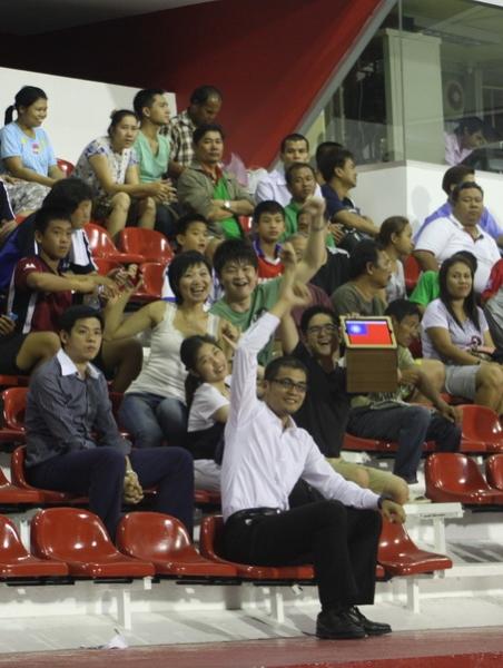 台灣球迷前來為中華隊加油