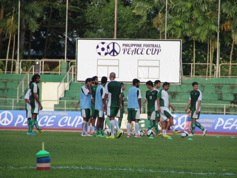 對手巴基斯坦也至訓練場地練習